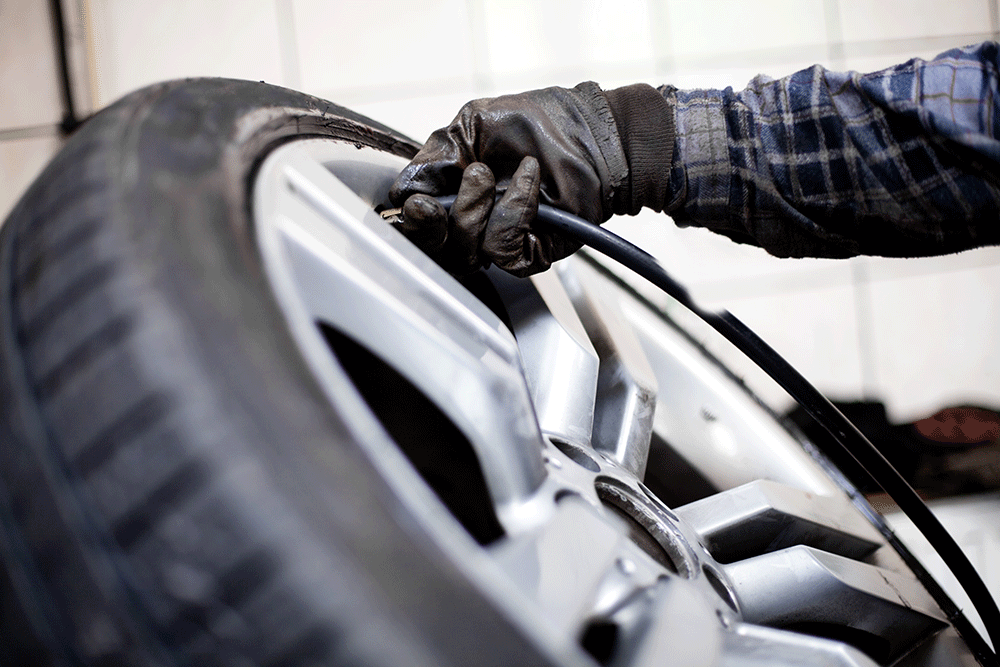 Flat Tire Repair Advanced Auto Center