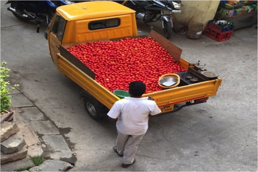 When you hear someone yelling in the street, you can ensure that someone is selling some tomatoes/ vegetables out there!