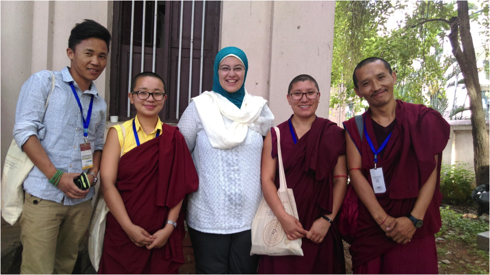 With Tibetan Buddhist Youth during an Inter-faith dialogue confrence