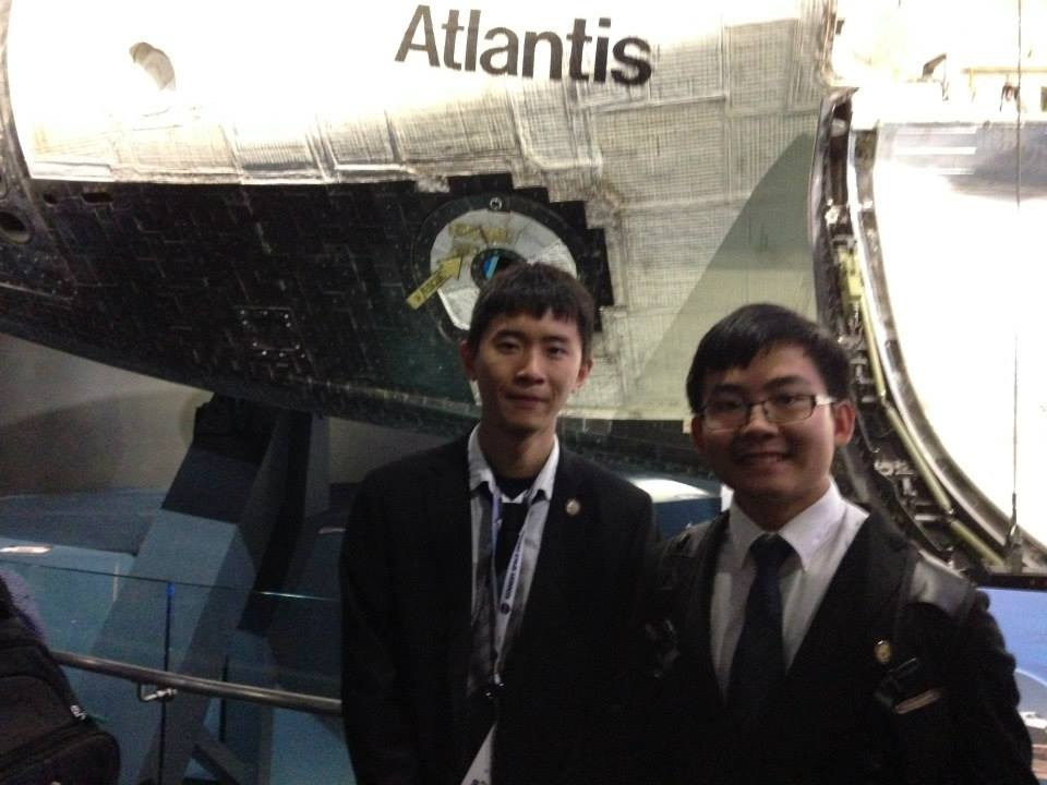 Steven Liang (left) and Joe Wong (right) of the gISMO team during their Florida invitation to the NASA Kennedy Space Center.