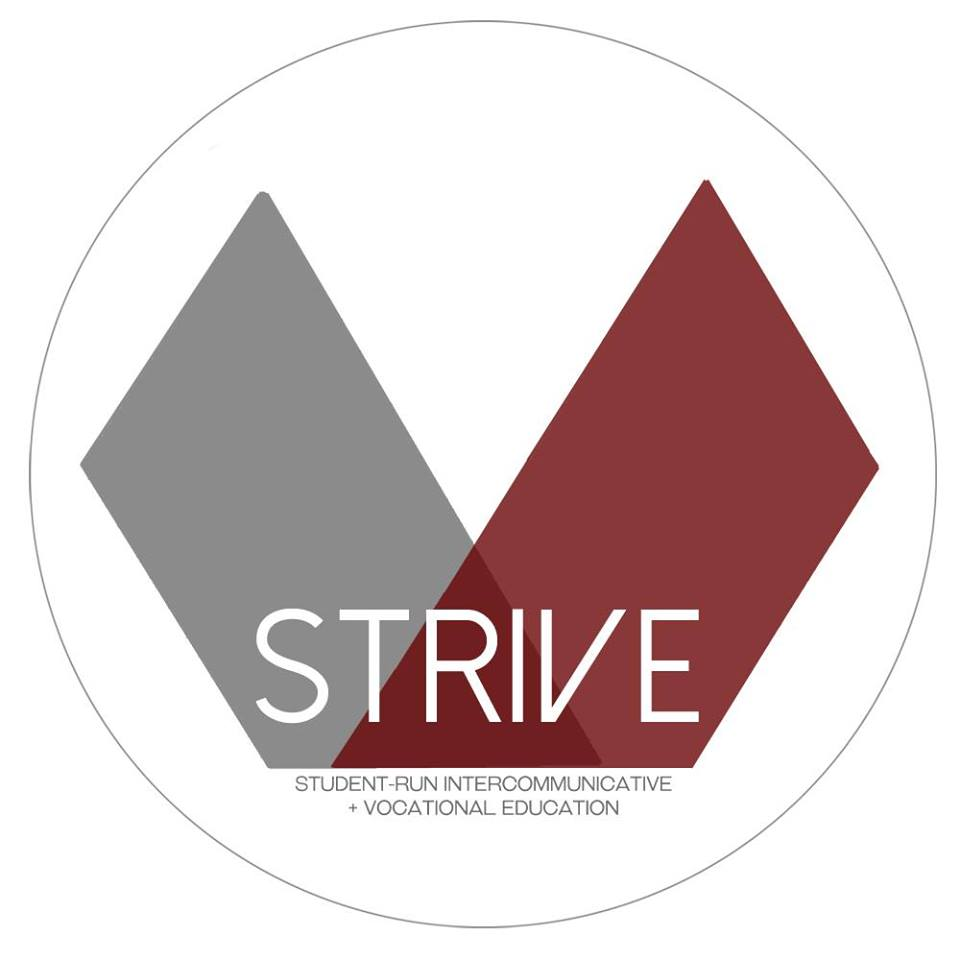 The logo of StRIVE of UC San Diego, whom collaborated with SENDforC on developing software to better facilitat their mentorship services.