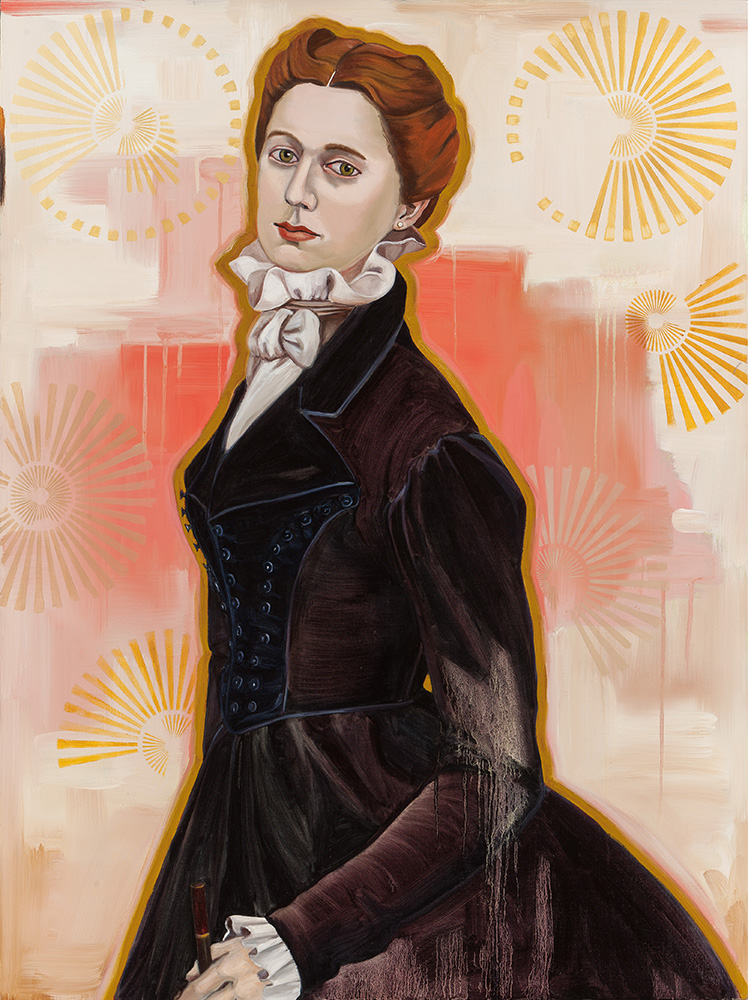 "Madame President  /  48 x 36 "" /oil on linen"