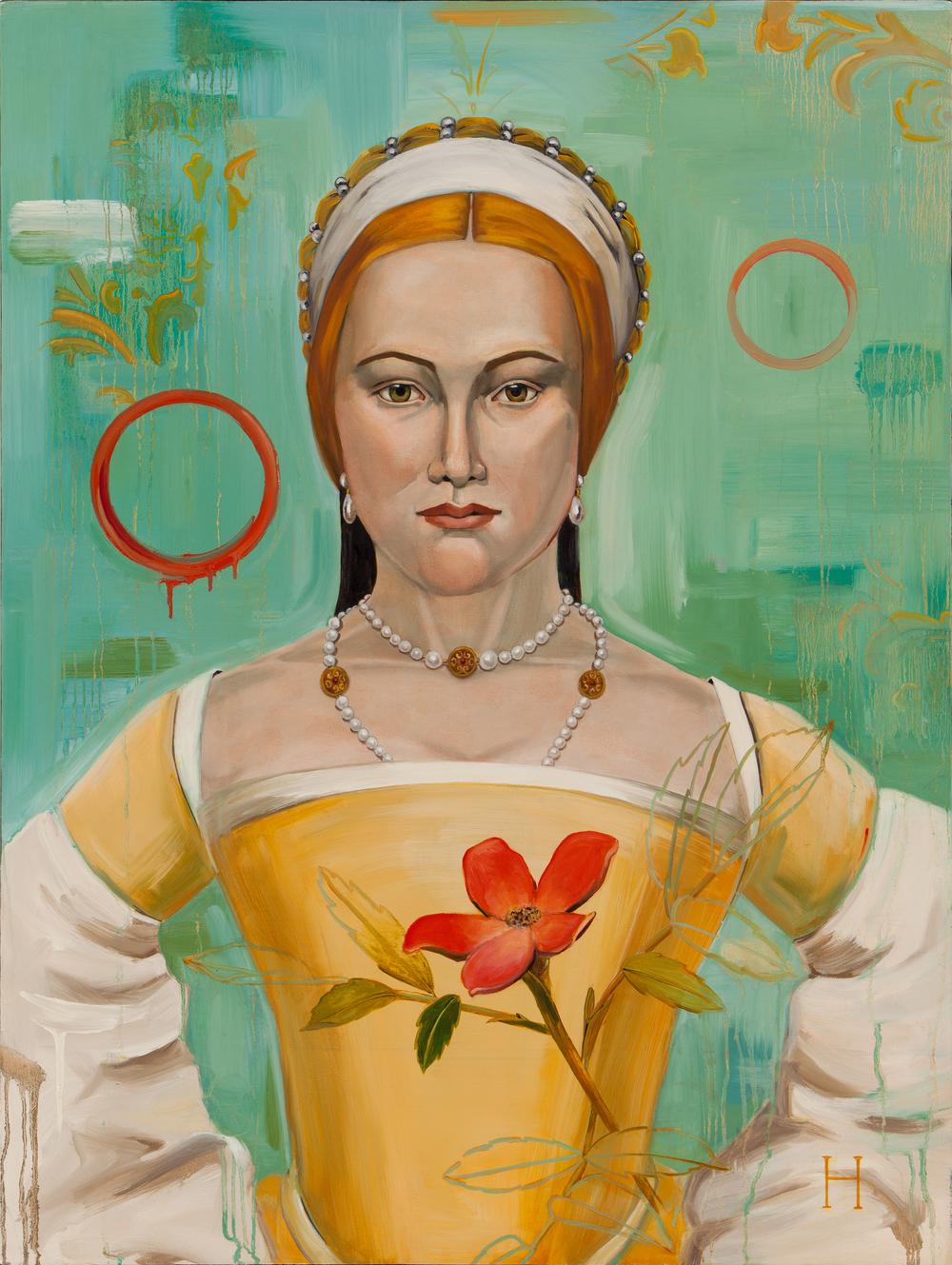 """Mistress Zouche  / 40"""" x 30"""" / oil on linen"""