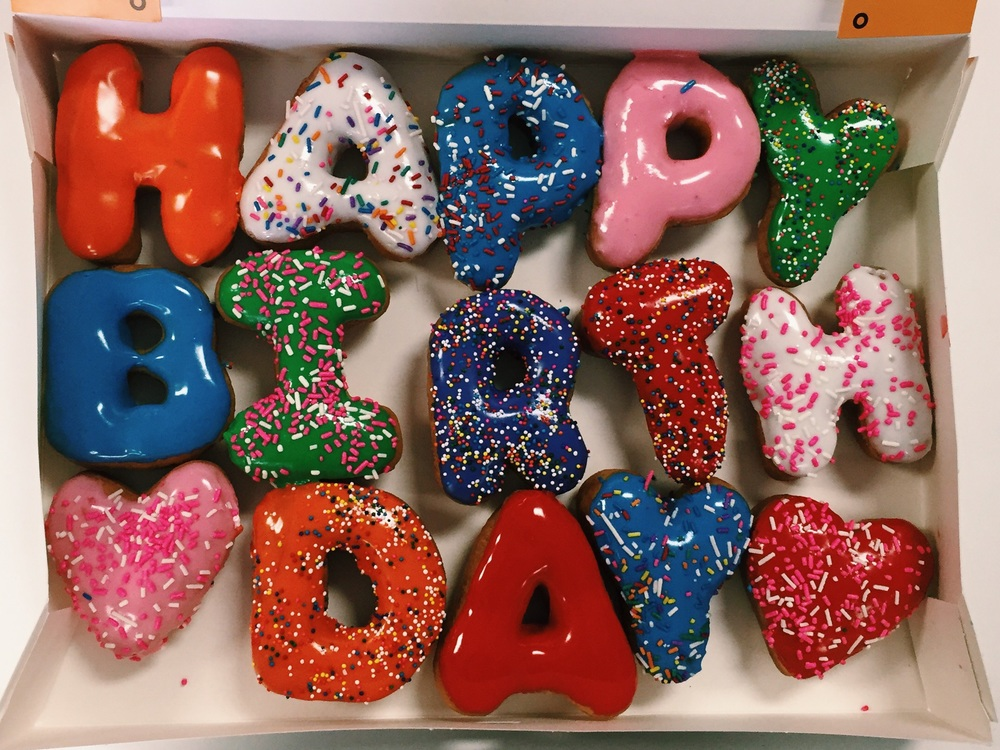 Happy Birthday Donuts Terry S Donuts