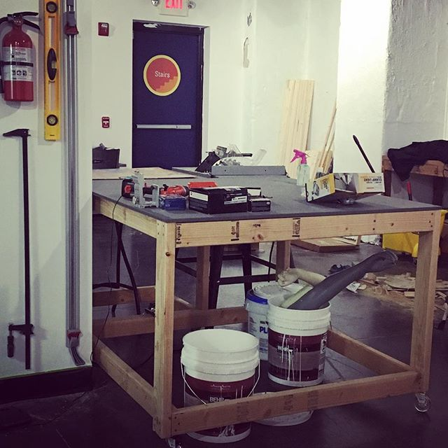 ⚠️ construction in process!!!! The new space is coming along nicely. New work tables are ready roll. #ampersandguild #new-beginnings #artistspace
