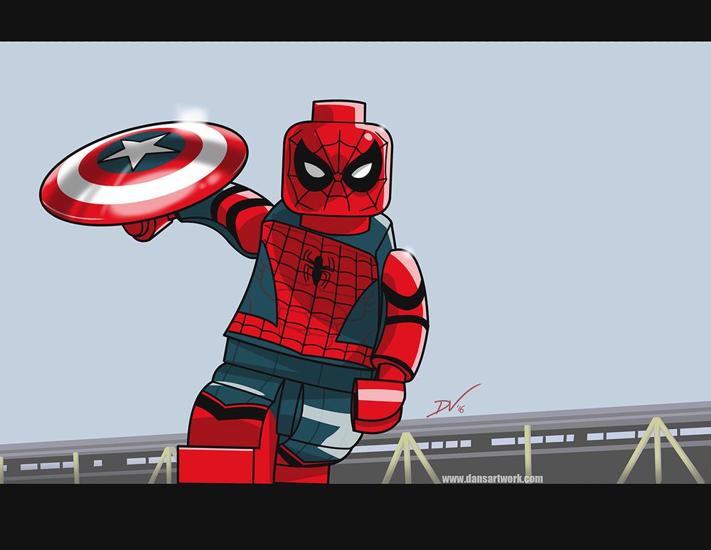 New Art Lego Spider Man From Captain America Civil War The Art