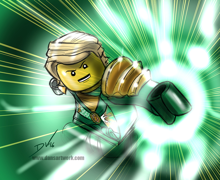 Lego Ninjago digital sketch practice - Lloyd! — The Art of Dan ...