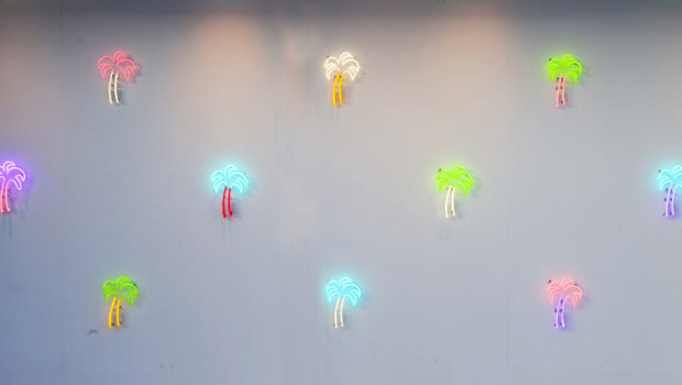 My neon palm trees for Art Basel 2013 (copyright)