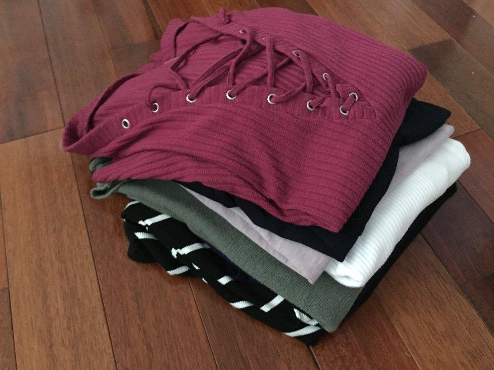 Short and long sleeve shirts