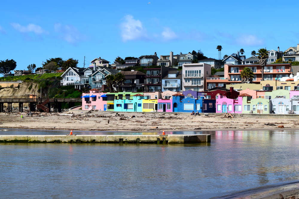Beachfront homes of Capitola, California.