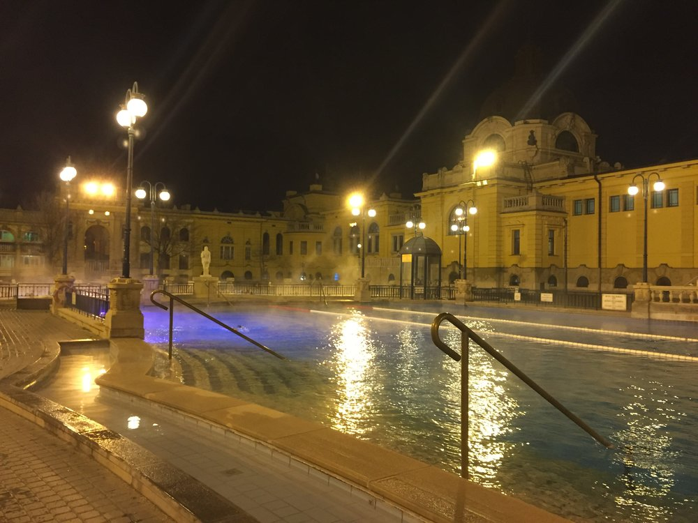 The lap pool of the Turkish Baths.