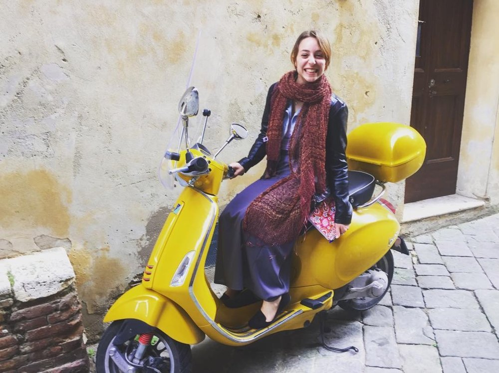 Me on some random Vespa in Siena