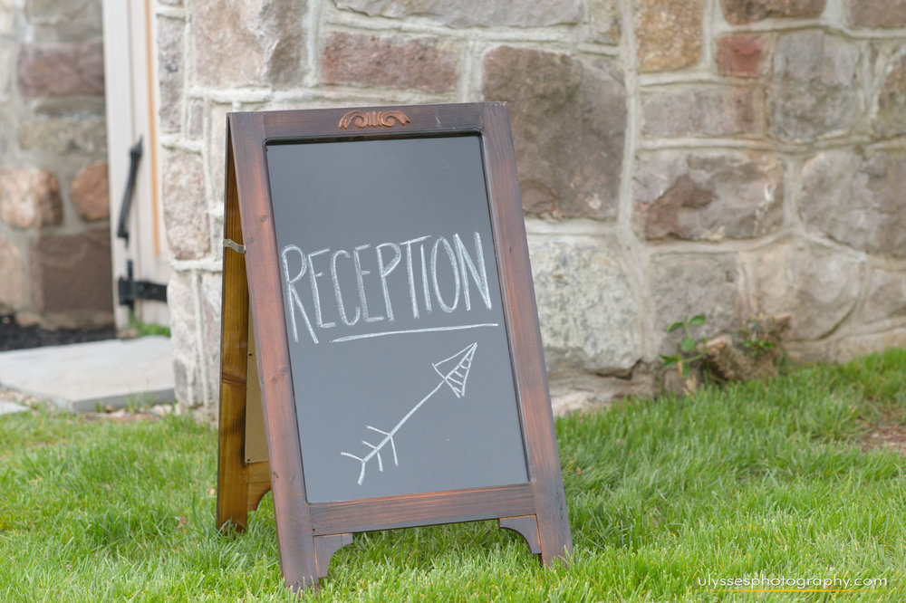 24 At Home Wedding Dunwalke Farm Wedding NJ Wedding Planner Chalkboard Sign.jpg