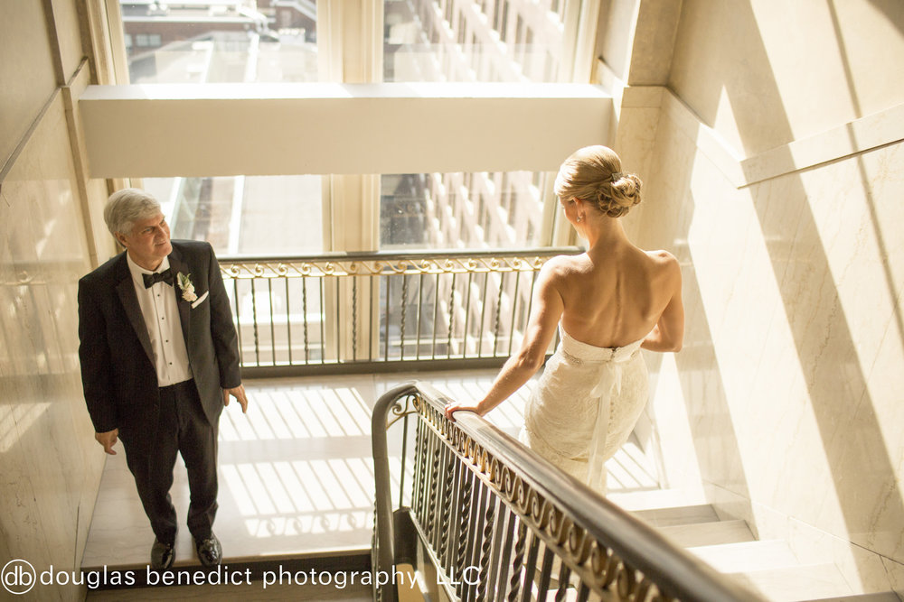 19 Philadelphia Wedding Father Daughter First Look Downtown Club Wedding.jpg