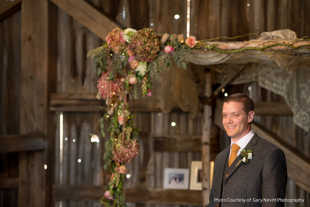 12 Philadelphia Wedding Florist Birch Chuppah Barn Wedding First Look.jpg