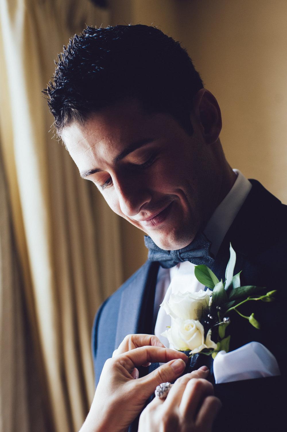 10 Hotel DuPont Wedding Designer Philadelphia Wedding Florist Grooms Boutonniere.jpg