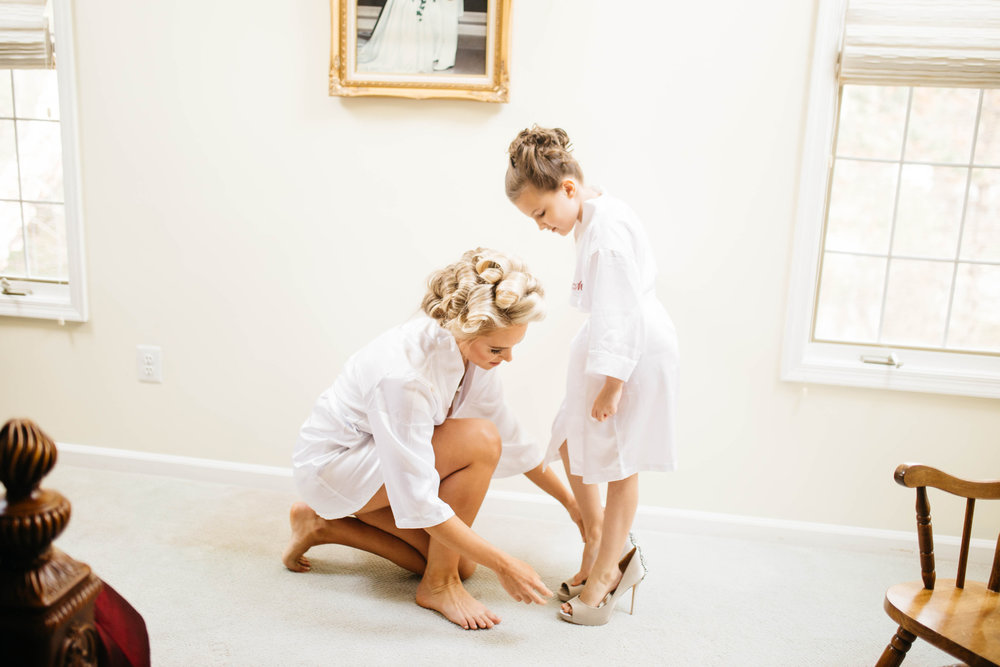 03 New Years Eve Wedding Bride and Flower Girl in Shoes.jpg