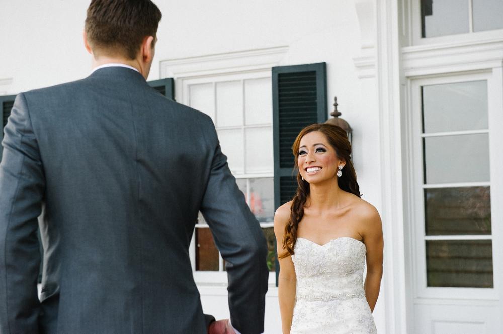 13 Historic Rosemont Manor Philadelphia Destination Wedding First Look Anne Barge Bridal.JPG