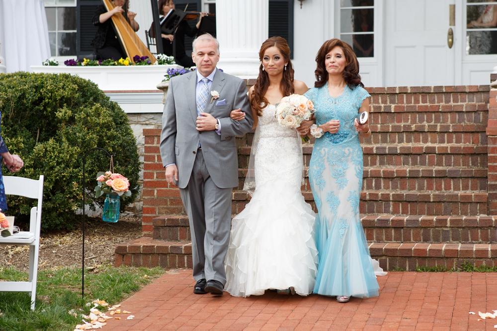 14 Aribella Events Philadelphia Wedding Planner Family Processional Historic Rosemont Manor.JPG