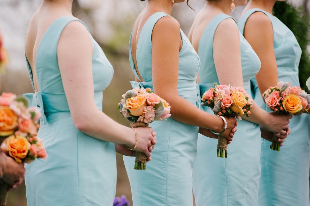 15 Mint and Coral Wedding Bridesmaids Aribella Events Historic Rosemont Manor Philadelphia Wedding Planner.JPG