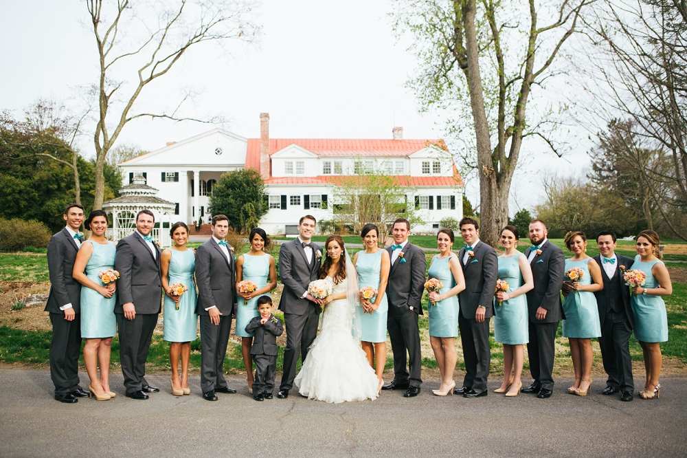 23 Aribella Events Wedding Planner Spring Wedding Mint Coral Wedding Party.JPG