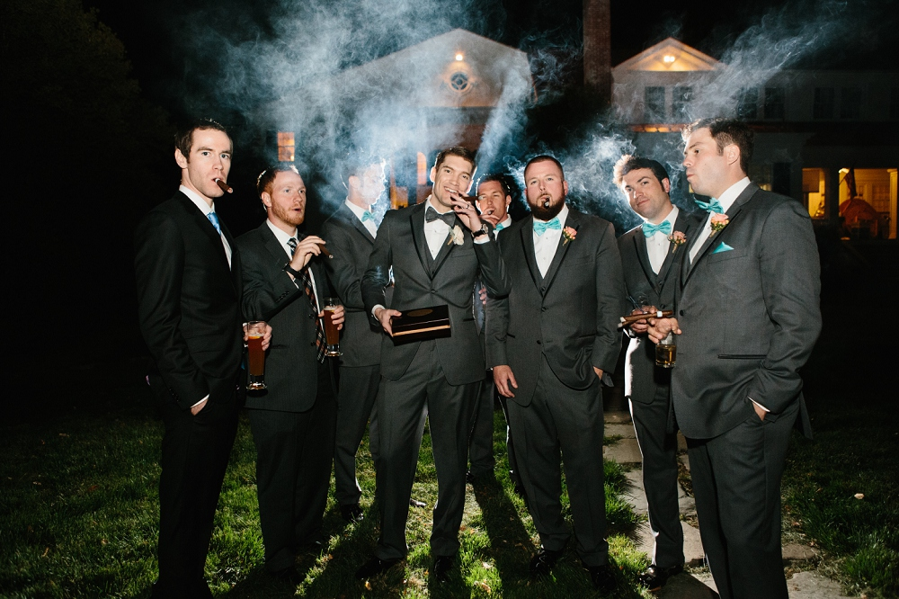 29 Epic Groomsmen Cigars Historic Rosemont Manor Destination Wedding.JPG