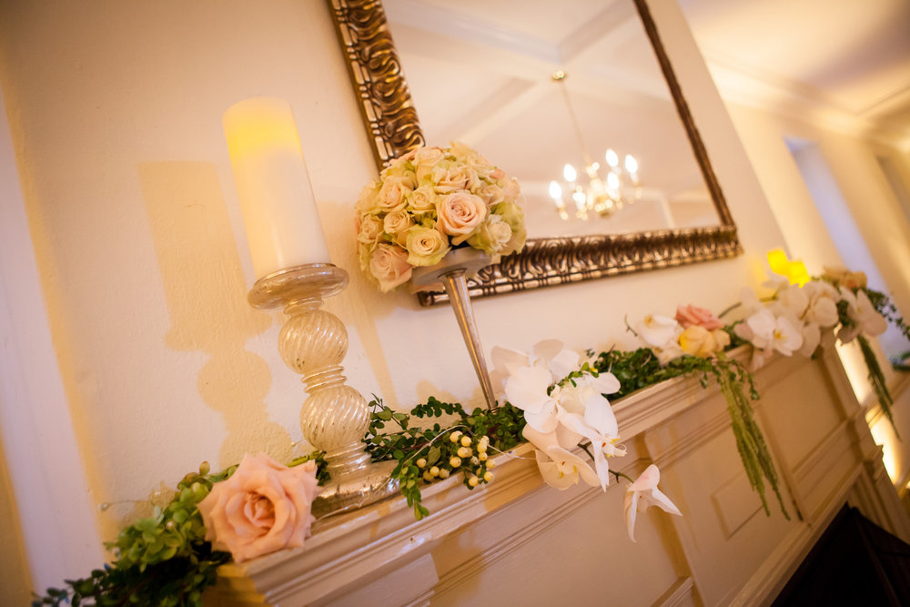 24 Philadelphia Wedding Florist Mantel Decoration Reception Decor Historic Yellow Springs.jpg