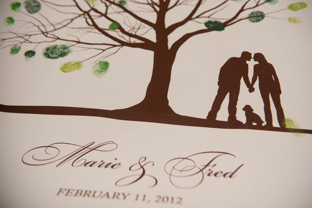 27 Custom Fingerprint Art Wedding Downtown Club.JPG