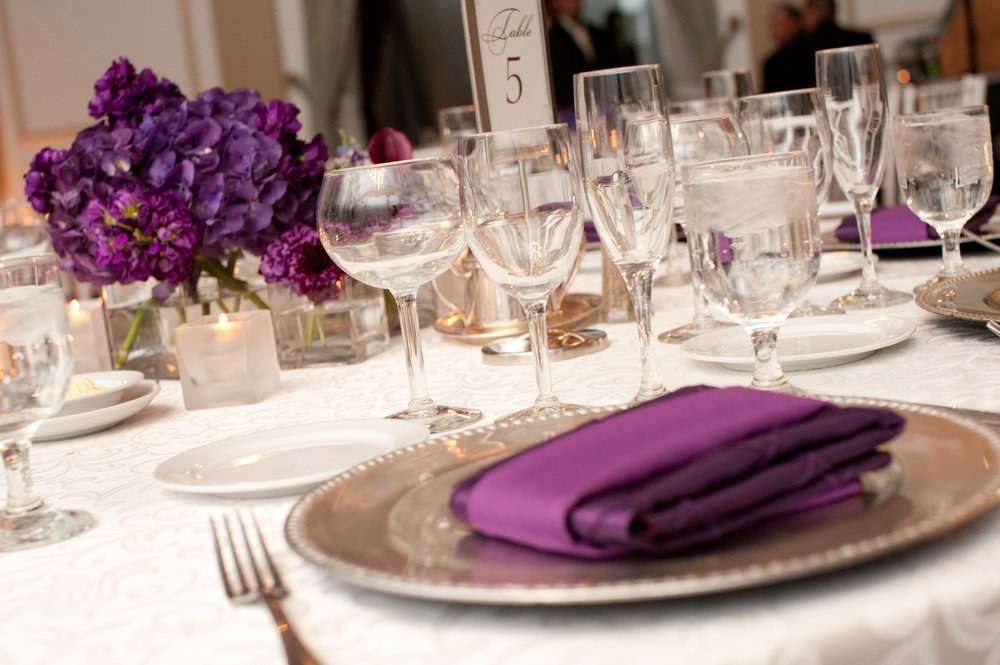 30 Winter Wedding Eggplant Low Centerpiece.JPG