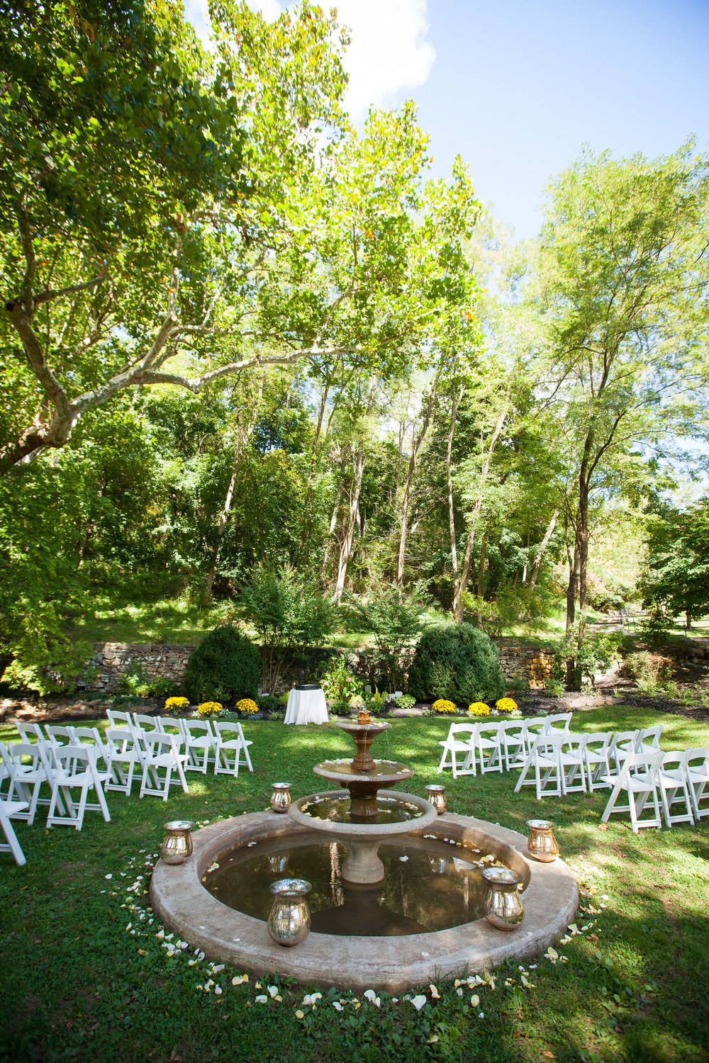 65 Outdoor Ceremony Garden Courtyard Historic Yellow Springs Wedding.jpg