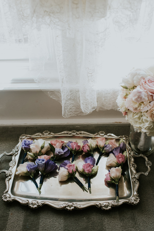 48 Lisianthus Rose Boutonnieres Blush Ivory Lavender Plum Navy.jpg
