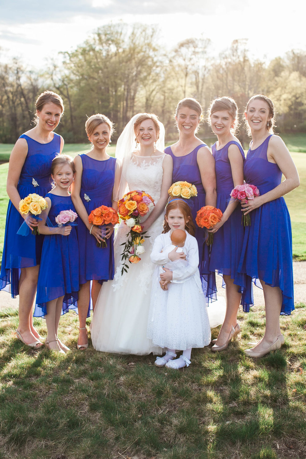 68 Color Block Rose Bouquets Sapphire Bridesmaids Chester County Wedding Planner.jpg