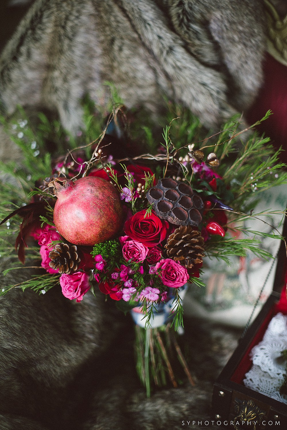 56 Woodland Bouquet Little Red Riding Hood Wedding Inspiration Chester County Wedding.jpg