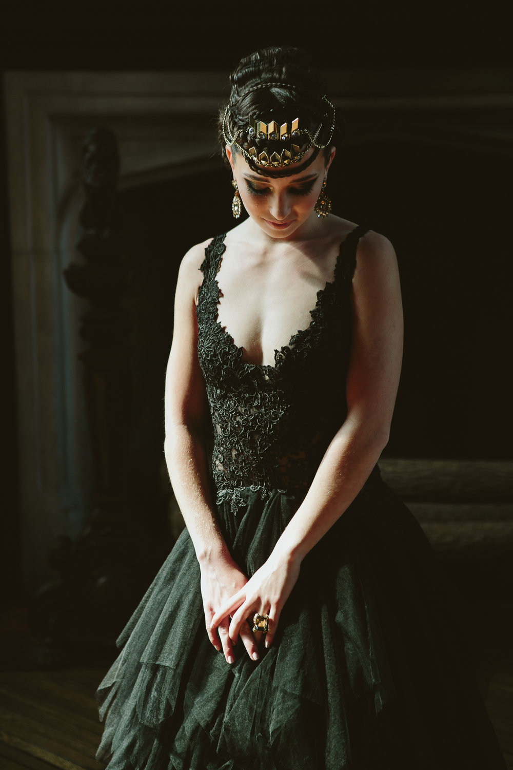 02 Black lace wedding dress NYC Wedding Aribella Events.jpg