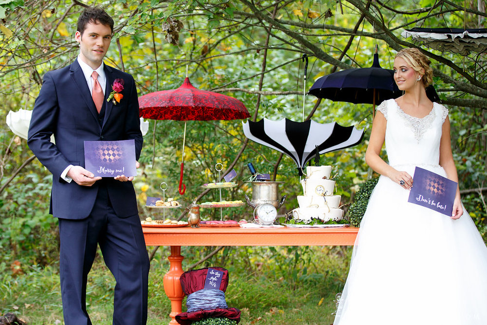 20 Alice in Wonderland Inspiration Umbrella Wedding Decor Alice in Wonderland Wedding Cake.JPG
