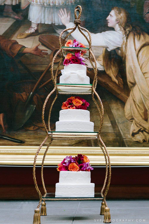 01 PAFA Deconstructed Bright Flowers Cake Vintage Cake Stand.jpg
