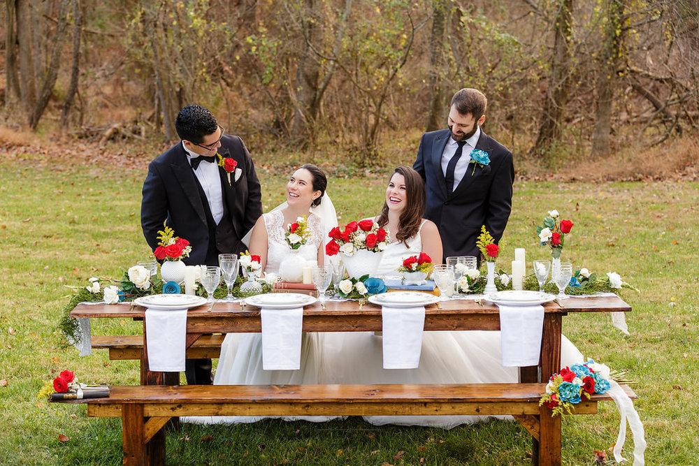 20 Gilmore Girls Wedding Inspiration Farm Table Milkglass Centerpieces.jpg