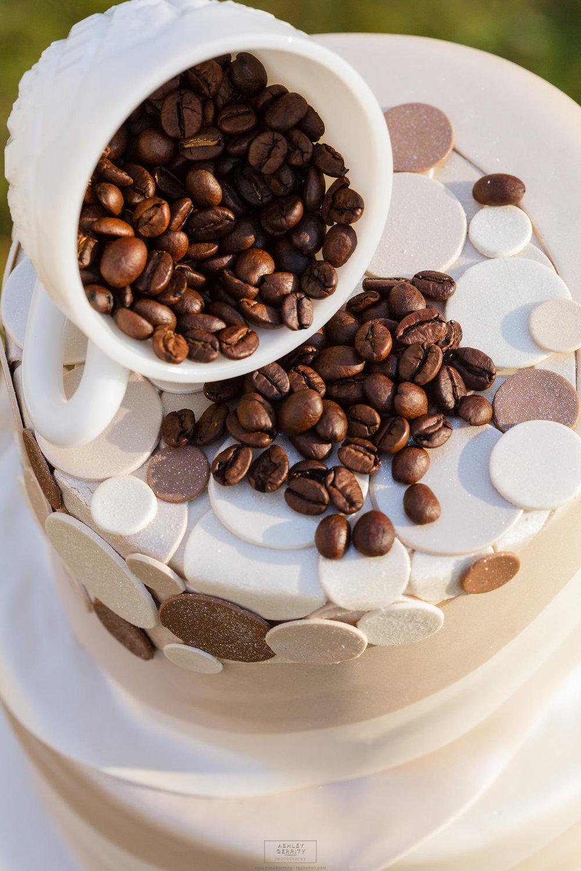 27 Coffee Themed Wedding Cake Gilmore Girls Wedding Inspiration.jpg
