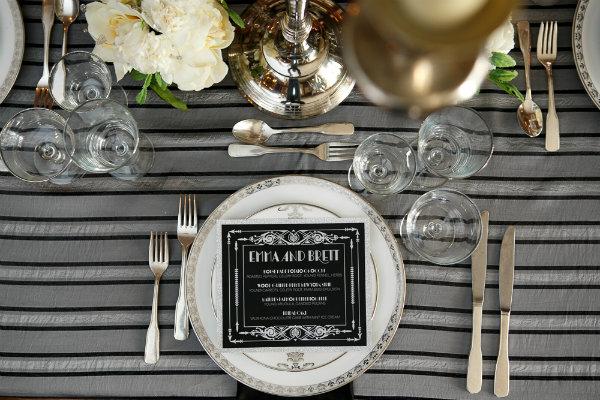 14 Great Gatsby Wedding Centerpiece Table Design Art Deco Menu.jpg