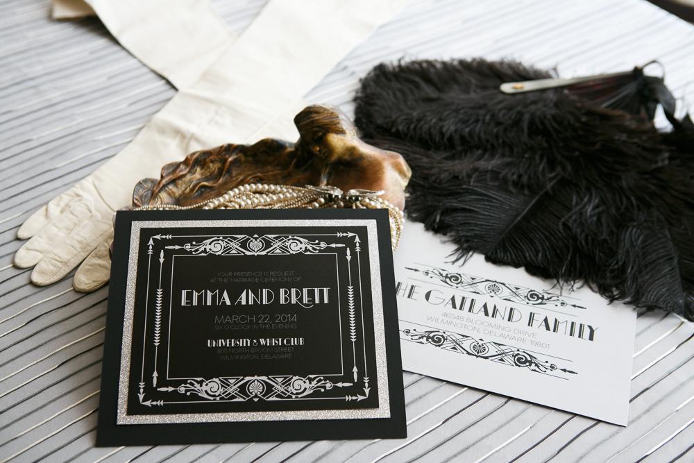 02 Great Gatsby Inspiration Custom Invitation Gourmet Invitations Art Deco Details Vintage Bridal.jpg