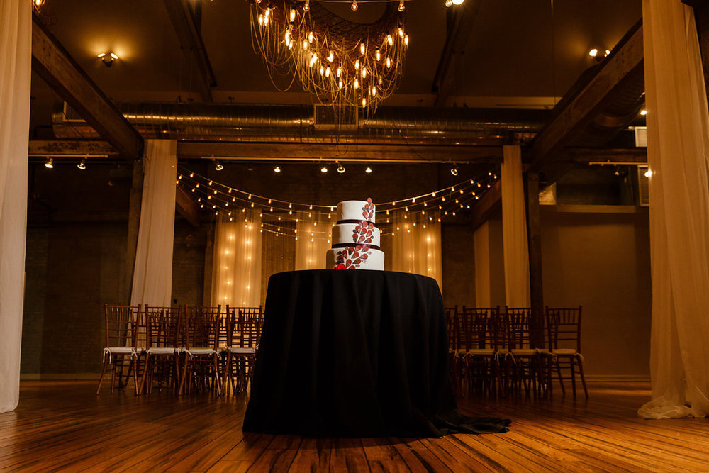 09 Front and Palmer Wedding Industrial Glamour Wedding Cake Philadelphia Wedding Designer.jpg