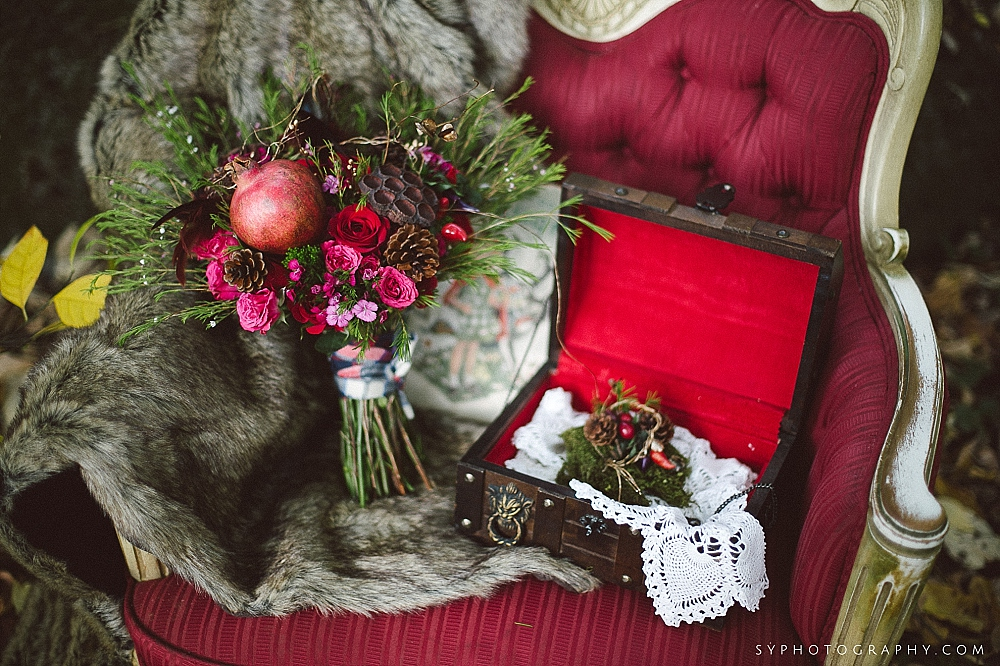 17 Little Red Riding Hood Big Bad Wolf Wedding Details Rustic Bouquet.jpg