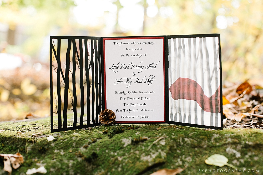05 Little Red Riding Hood Big Bad Wolf Wedding Invitation.jpg