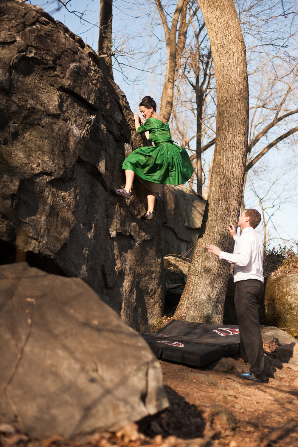 17 Philadelphia Event Planner Mad Men Rock Climbing Styled Engagement Shoot.jpg
