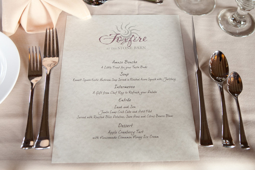 10 Foxfire Stone Barn Custom Menu Anniversary Party Menu Chester County Events.jpg