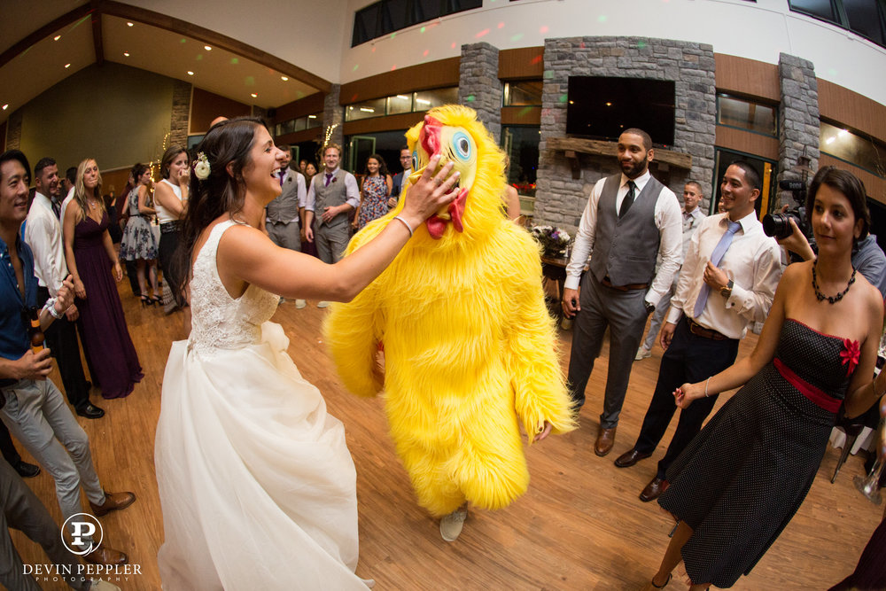 22 Trout Lake Wedding Chicken Dance Chicken Suit.jpg
