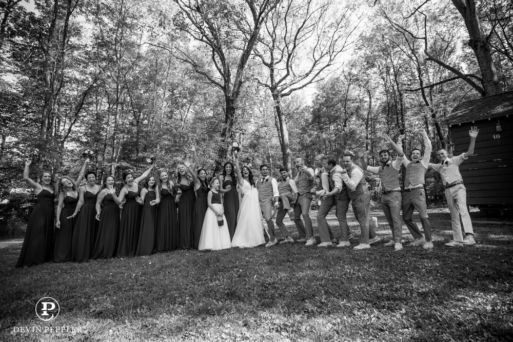 18 Camp Wedding Trout Lake Wedding Party Poconos Aribella Events.jpg