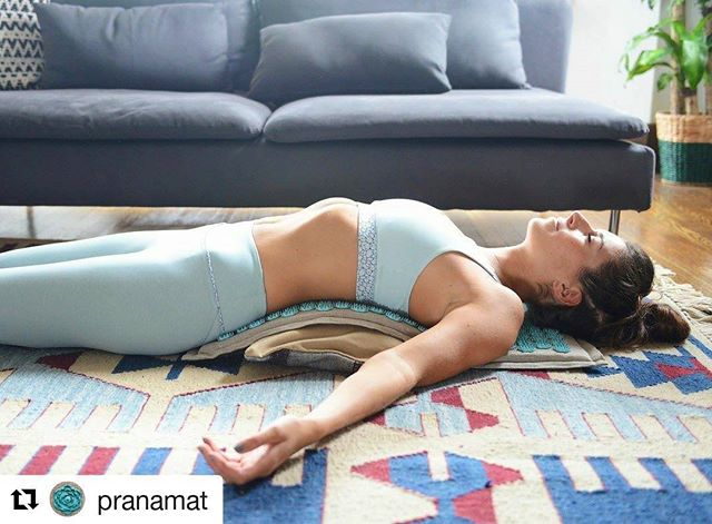 Lower back pain relief and yoga mix.  #backpain #healthylifestyles #Miami #backpainsucks  #Repost @pranamat with @repostapp ・・・ Here's a ⚡lightning-quick⚡ 3-step crash course on targeting pain in your lower back (lumbar) region and achieving a meditative state.  1.Slide a small cushion under one end of your mat.  2.Slowly lie down on the mat, positioning your lower back over the part of the mat covering the cushion. TIP👆 Make sure your feet are planted on the ground, adjust lower back intensity by moving your feet closer or further away from your body  3.Breathe deeply & slowly in through your nose. Mentally count to 6 and exhale through your mouth. Continue breathing this way.  In as few as 5 minutes you should feel a sense of tranquility come to you, and your back will feel warm and comfortable. It's a ✨ feeling unlike any other you experience in your daily life, and you can achieve in whenever you like. 👌🌟