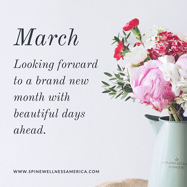 Hello March :) It's a brand new month. A fresh start. Wishing you a wonderful March! ⠀ .⠀ .⠀ .⠀ Have chronic pain? Contact us today. We would love to help you reduce and/or eliminate your pain so you can enjoy more of your beautiful life in #southflorida. ⠀ .⠀ .⠀ .⠀ #dailyinspo #hellomarch #miami #hollywoodfl #backpain #painrelief
