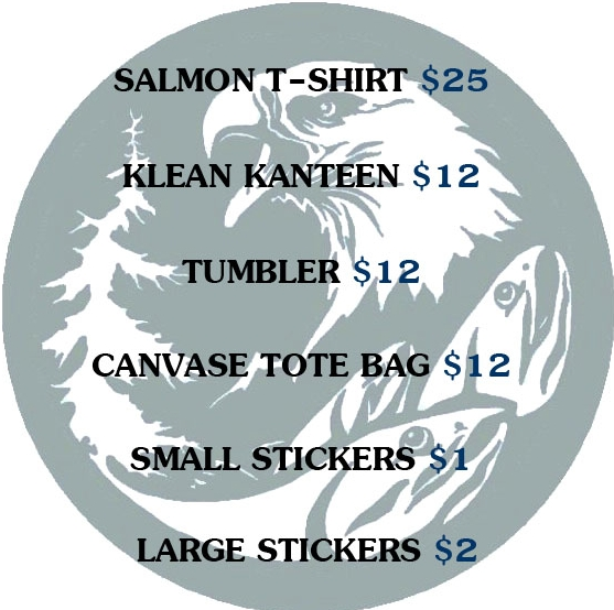Items can be purchased at our office, or look for our booth at the Southeast Alaska State Fair and other events!
